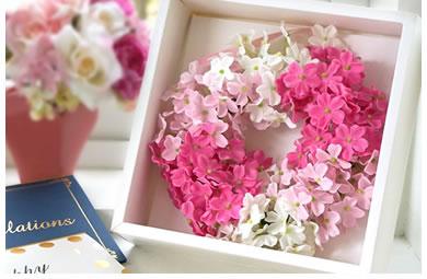 ピンクのグラデーションが可愛い日本ならではのSAKURAリース