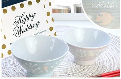毎日使うから、可愛いものがいい!名入れ夫婦茶碗セット